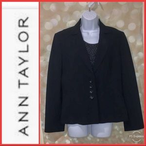 Ann Taylor Triacetate Suiting Jacket Black Size 10